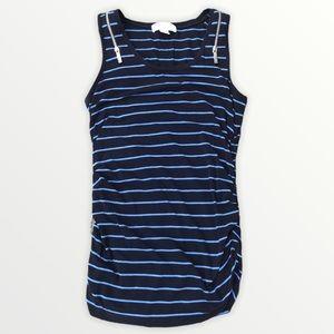 MICHAEL KORS Stripe Zipper Shoulder Maternity Tank